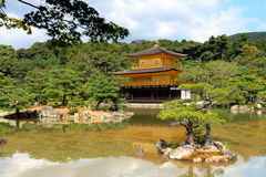 Kinkakuji - The Golden Pavillion, Kyoto, Japan Stock Photography