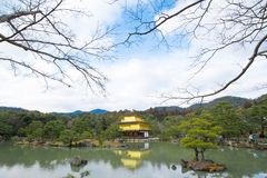 Kinkakuji or Golden Temple in winter, Kyoto, Japan Stock Photo