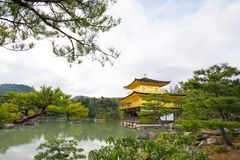 Kinkakuji or Golden Temple in winter, Kyoto, Japan Royalty Free Stock Images