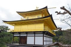 Kinkakuji or Golden Temple in winter, Kyoto, Japan Stock Photography