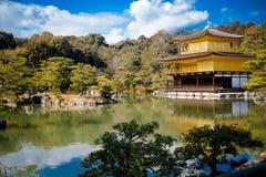 Kinkakuji (goldener Pavillion) Stockfotos