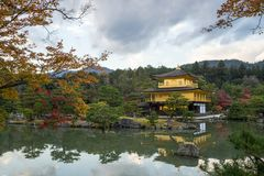 Kinkakuji is landmark from Kyoto Japan Royalty Free Stock Photo