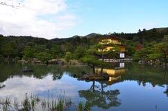 Kinkakuji liści koloru zmiana Japonia zdjęcie stock