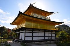 Kinkakuji liści koloru zmiana Japonia zdjęcia stock