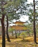 Kinkakuji o Pavillion de oro Imágenes de archivo libres de regalías