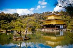 Kinkakuji (pavilhão dourado) Foto de Stock Royalty Free