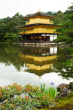 Kinkakuji tempel royaltyfria foton