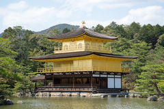 Kinkakuji tempel, den guld- paviljongen Arkivbild
