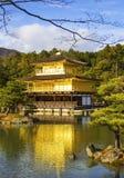 Kinkakuji tempel (den guld- paviljongen) i Kyoto Arkivfoton