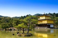 Kinkakuji-Tempel in Kyoto, Japan stockbild