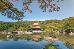 Kinkakuji Tempel in Kyoto, Japan Stockfotos