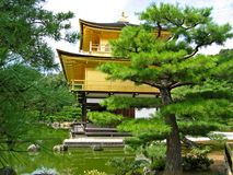 Kinkakuji Temple. Golden Kinkakuji Temple or Golden Pavilion at Kyoto, Japan stock photography