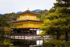 Kinkakuji temple golden pavilian in autumn Royalty Free Stock Photo