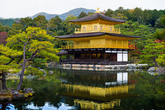 Kinkakuji temple golden pavilian in autumn Stock Images