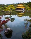 Kinkakuji temple golden pavilian in autumn Stock Photos