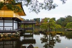 Kinkakuji temple golden pavilian in autumn Stock Image