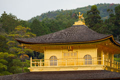 Kinkakuji temple golden pavilian Stock Image