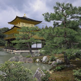 Kinkakuji Temple Golden Pavilion Kyoto Royalty Free Stock Photos