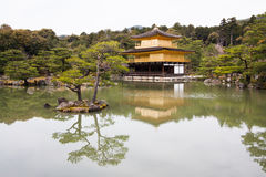 Kinkakuji Temple or The Golden Pavilion. In Kyoto stock images