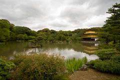 Kinkakuji Temple(Golden Pavilion) at Kyoto. Stock Image