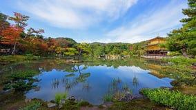 Kinkakuji Temple or Golden Pavilion in Kyoto Stock Photography