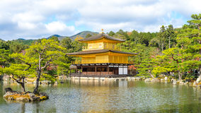 Kinkakuji Temple or the Golden Pavilion in Kyoto Royalty Free Stock Photography
