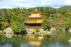 Kinkakuji Temple or the Golden Pavilion in Kyoto Royalty Free Stock Photo