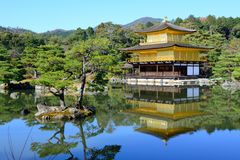 Kinkakuji Temple (The Golden Pavilion) in Kyoto, Japan Stock Photography