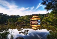 Kinkakuji Temple of the Golden Pavilion Kyoto Japan Royalty Free Stock Photos