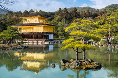 Kinkakuji Temple (The Golden Pavilion) in Kyoto, Japan Stock Image