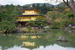 Kinkakuji Temple, Golden Pavilion at Kyoto, Japan. Royalty Free Stock Image