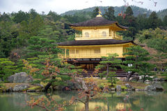Kinkakuji Temple, Golden Pavilion at Kyoto, Japan. Royalty Free Stock Photography
