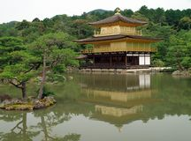 Kinkakuji Temple (The Golden Pavilion) in Kyoto, Japan Stock Images