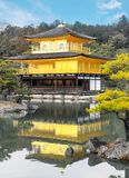 Kinkakuji temple golden pavilion zen buddhist on lake at Tokyo Stock Photos