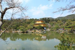Kinkakuji temple or Golden Pavillion in Kyoto royalty free stock photography