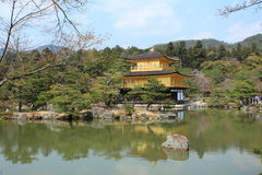 Kinkakuji temple or Golden Pavillion in Kyoto. Kinkakuji (Golden Pavilion) is a Zen temple formally known as Rokuonji. It's covered in gold,Kyoto,Japan Royalty Free Stock Photos