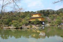 Kinkakuji temple or Golden Pavillion in Kyoto royalty free stock photos