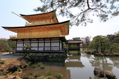 Kinkakuji temple or Golden Pavillion in Kyoto royalty free stock photography