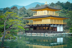 Kinkakuji Temple (Kinkaku-ji, The Golden Pavilion) in Kyoto, Japan. Stock Photography