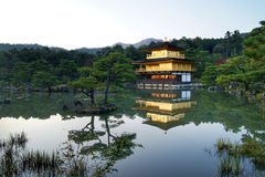 Kinkakuji Temple, Kyoto. Kinkakuji Temple aka Golden pavilion in Kyoto - one of the most beautiful and most famous temples in Kyoto, especially at sunset Royalty Free Stock Image