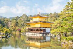 Kinkakuji Temple in Kyoto Royalty Free Stock Photography