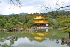 Kinkakuji Temple. With lake in Kyoto Royalty Free Stock Photos