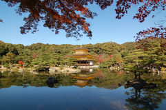Kinkakuji Temple and the mirror lake Stock Photo