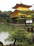 Kinkakuji temple on a rainy day Stock Image