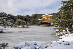 Kinkakuji temple during winter time Royalty Free Stock Photography