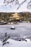Kinkakuji temple during winter time Royalty Free Stock Photos