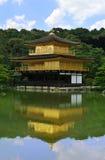 Kinkakuji templo () dourado do pavilhão/Kyoto, Ja Fotos de Stock