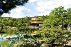 Kinkakuji-templo, kyoto, Japão Fotografia de Stock