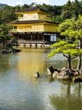 Kinkakuji Złoty pawilon Fotografia Royalty Free