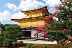 Kinkakuji - Złoty pawilon, Kyoto, Japonia Zdjęcia Stock